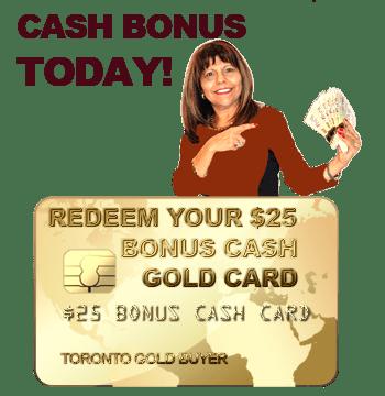 $25 Cash bonus card service